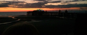 An amazing sunset awaited us on Blackpool;s North Pier