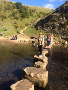 Andi on Dovedales stepping stones