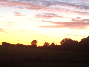 Stunning sunset at Carsington camping