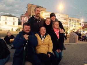 The gang enjoying Blackpool