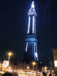 Blackpool tower all lit up