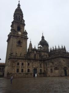 Santiago -deserted in the rain