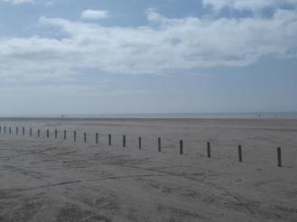 Ainsdale beach on a weekday