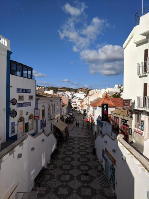 albufeira old town streets